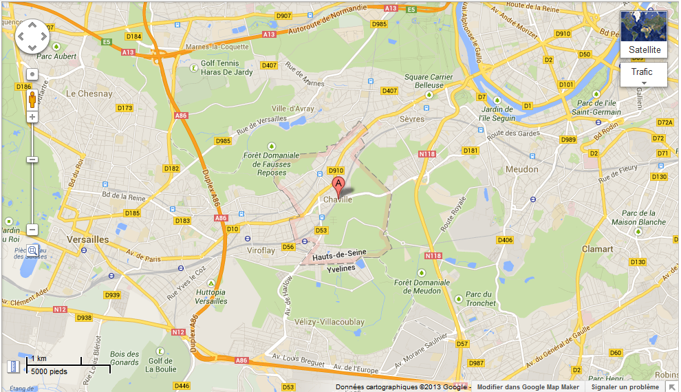 Google map Chaville