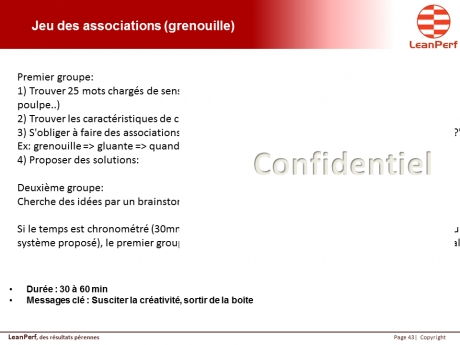 Jeu des associations